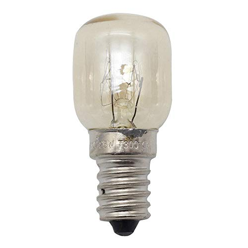 Dekorative Filament Glühbirne , 220V Glühbirne Salzkristall Lampe Backofen Mikrowelle Birne 300 Grad E14 25W Kleine Birne Aromatherapie Birne 5St