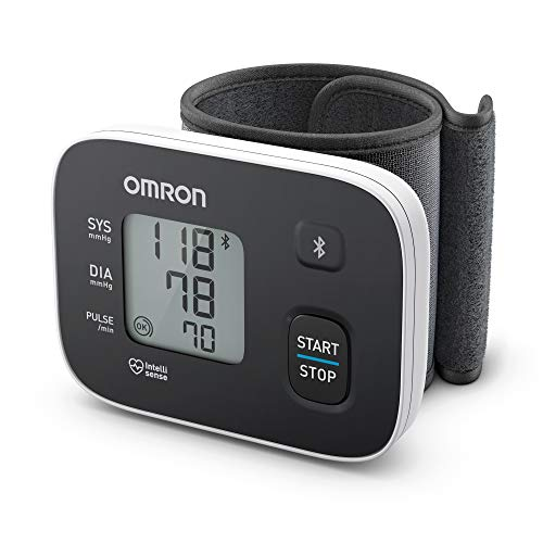 OMRON RS3 Intelli IT - Tensiómetro de muñeca con conectividad Bluetooth para uso doméstico o externo, color negro ✅