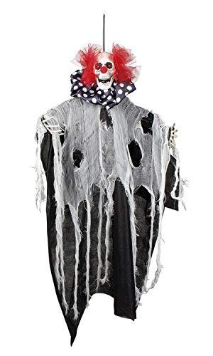 Boland 73017 Decoratiefiguur Horror clown 70 cm, unisex – volwassenen, meerkleurig,