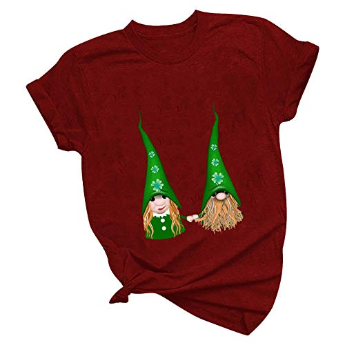 Adlforever St. Patrick's Day T-Shirt St. Patrick's Day Irish Bier trinken T-Shirt Damen Sommer Tshirt Herren Damen T-shirts Damen T-shirts Langarm Herren T-shirt Sommer Tshirt