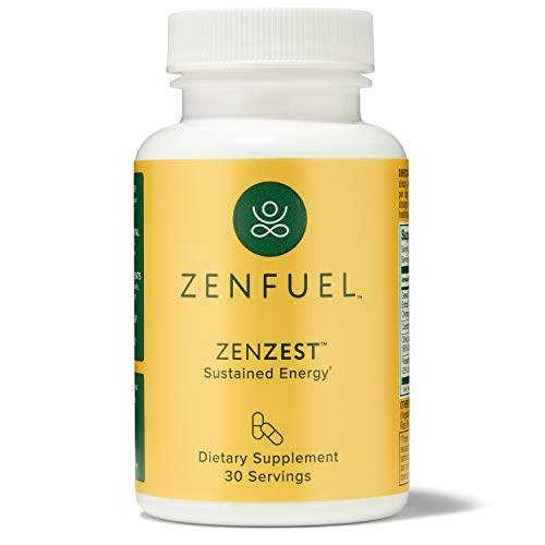 ZenZest - Sustained Energy & Focus – Energy Boost Supplement for Improved Mental Clarity – Daily Energy Supplement Boosts Metabolism – Natural, Vegan Energy Booster Pills, 30 Count