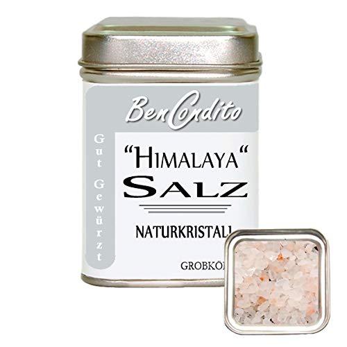 BenCondito - grob gemahlenes Rosa Kristallsalz aus Punjab ( bekannt als Himalaya Salz ) 180 Gramm