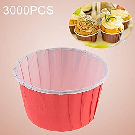 New Kitchen Appliance 3000 PCS Round Lamination Cake Cup Muffin Cases Chocolate Cupcake Liner Baking Cup, Size: 5.8 x 4.4 x 3.5cm (Green) Kitchen Tool (Color : Red)