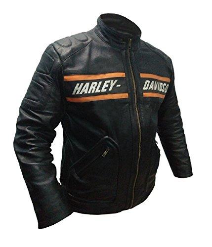 Piuma Skin WWE Bill Goldberg HD Harley Davidson Giacca in pelle nera Nero S/petto 38/39'
