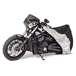 Budge Sportsman Motorcycle Cover, Black, Waterproof, Universal Fit, Fits up to 96""