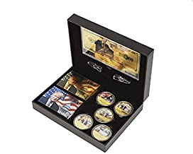 Donald Trump 2020 Collector's Gift Set - 5 Coins - 24K Gold $1M Bill - 2 Decks of Trump Cards - Great Gifts for Men - Rela...