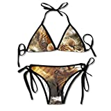 Traje De Baño Tiger Stripes 2 Piezas Verano Playa Hermoso Cumpleaños Ropa Interior Hawaii Traje De Baño Traje De Baño Vacaciones Sexy Sexy Cosplay Durable Bikini Set Piscina Acoged