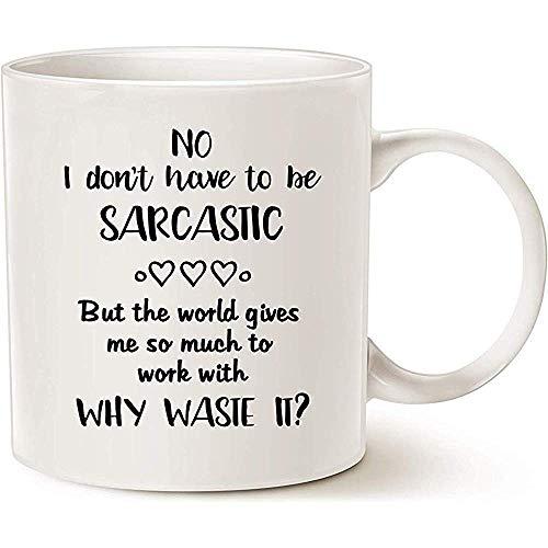 Kerstcadeaus Hilarische Waarom afval Sarcastische kans Beste huis en kantoor geschenken voor familie vrienden 11 OZ, Novelty koffie mokken, keramische thee Cup
