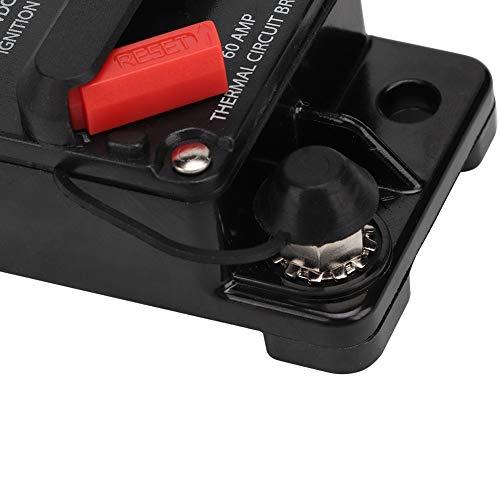 Disyuntor, fusible de autorrecuperación estéreo audio 30A / 40A / 60A 12V, para coche marino(60A)