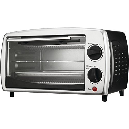 Brentwood Toaster Oven Stainless Steel, 4-Slice, Black