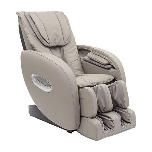 Fauteuil de massage professionnelle ASANA en simili cuir. Position zéro Gravity, 16 airbag, pressoterapia et massage Super Long gris