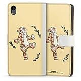 DeinDesign Étui Compatible avec Sony Xperia Z5 Étui Folio Étui magnétique Winnie l'ourson Tigrou...