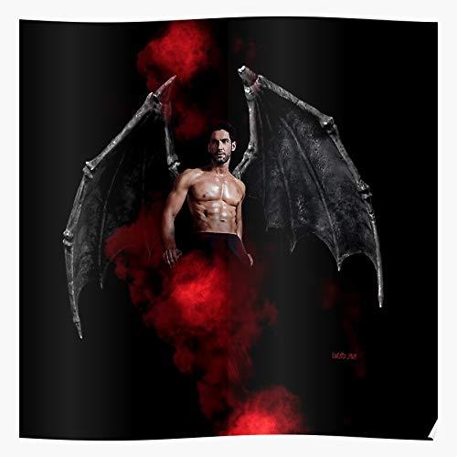 MADEWELL Lucifer Devil Wings Morningstar Red Black Das eindrucksvollste und stilvollste Poster für Innendekoration, das derzeit erhältlich ist