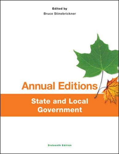 Annual Editions: State and Local Government, 16/e