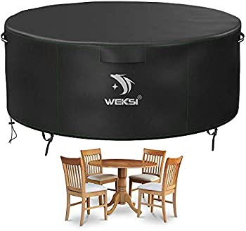 WEKSI Waterproof Outdoor Table and Chair Set Covers