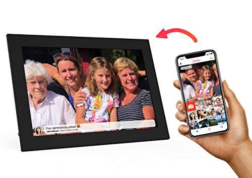 Kiki&Co Digitale Fotolijst met WiFi - 10 inch zwart - stuur foto's met gratis Frameo App - Deel elke dag een geluksmoment!