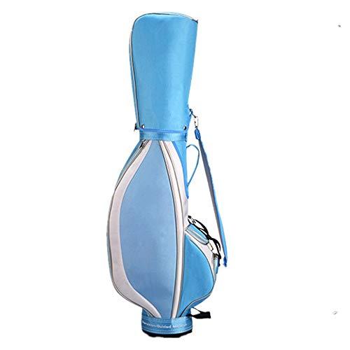 Hojkl Golftasche, Nylon, leicht, Golf-Trolley, wasserdicht, für Damen, Golf-Trolley, Tasche (Farbe: Blau, Größe: 130 x 26 x 46 cm)