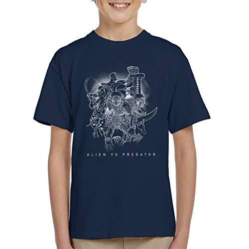 Alien vs Predator Character Montage Kid's T-Shirt