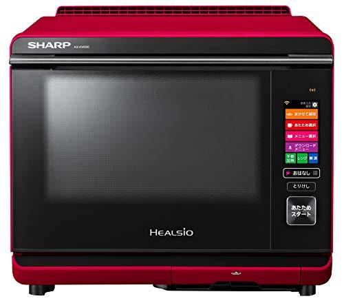 シャープヘルシオ「COCOROKITCHEN」搭載30L2段調理タイプレッド系AX-XW500-R