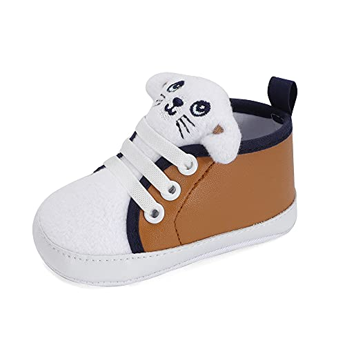 LACOFIA Baby Boys Sneakers Infant Anti-Slip Soft Sole 3D Animal First...