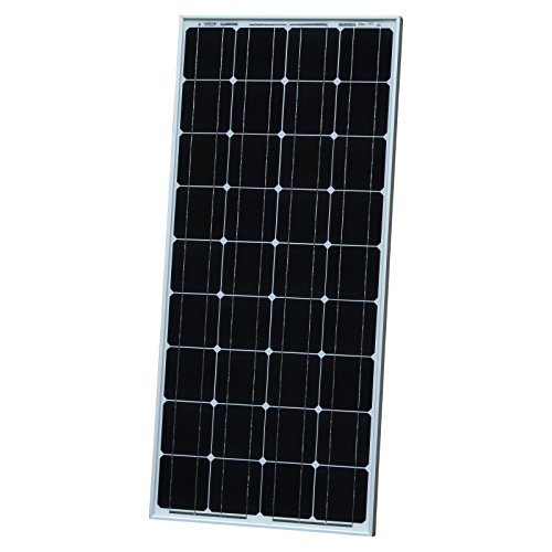 100W Photonic Universe monocrystalline solar panel with 5m of special solar cable, for charging a 12V battery in a motorhome, caravan, camper, boat or yacht, or off-grid / backup solar power systems 100 watt
