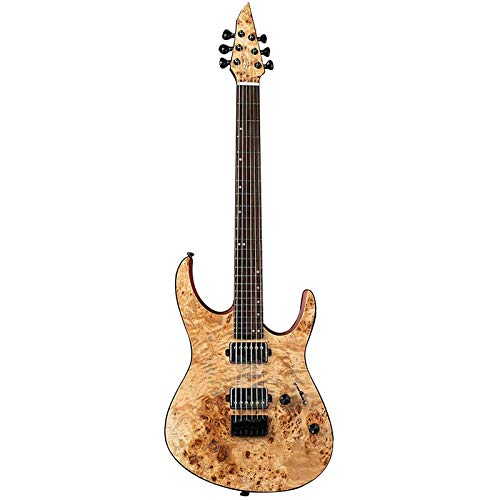 EART EXPLORER-1 E-Gitarre Fix Bridge Gitarre mit 6 Saiten Solid-Body Rechtshänder E-Gitarre, geschlossene Tonabnehmer für Heavy Metal Musik, Pop, Rock, Dendritic Veneer Gitarre