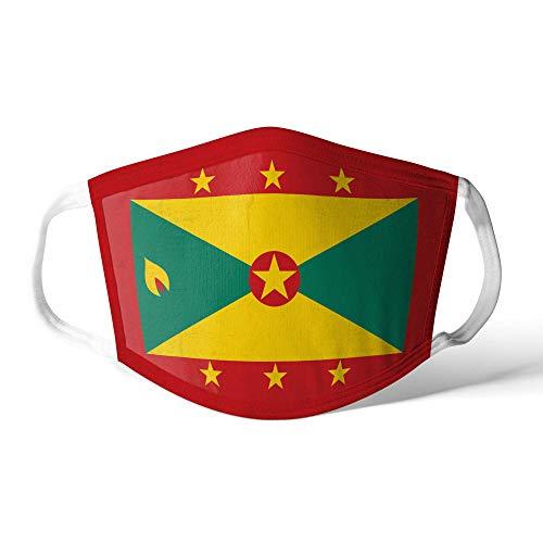 M&schutz Maske Stoffmaske Mittel Amerika Flagge Grenada/Grenadian Wiederverwendbar Waschbar Weiches Baumwollgefühl Polyester Fabrik