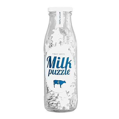 Monsterzeug Kniffliges Milchpuzzle in Glasflasche, Weißes Puzzle, Milch Puzzle als lustiger Scherzartikel, Spaßgeschenk mit 517 Teilen