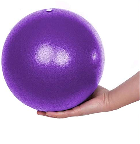Gymnastikball Yoga Pilates Ball Kleine Übung Ball, Dicker Anti-Burst Gymnastikball inkl Ballpumpe, Rutschfester&Superleichter Soft Pilates Ball, Fitness Ball für Yoga,Heim, Büro,Sitzball,25 cm (Lila)