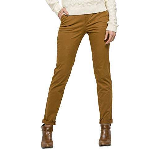 OxbOw Rossa Pantalon Chino Femme, Coyote, FR : 3XL (Taille Fabricant : 32)