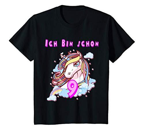 Kinder 9.Geburtstag Geschenk Mädchen 9 Jahre T-Shirt