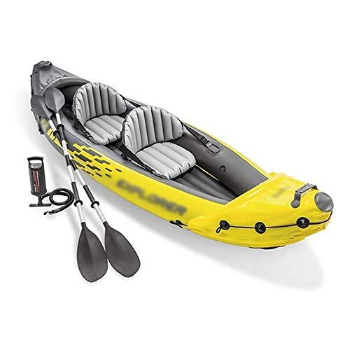BZLLW Kayak Inflable, for Dos Personas Barco Inflable, Goma de remos Doble Asalto Barco, Plegable Espesado Barco Inflable, Inflable Kayak Conjunto, for Adultos