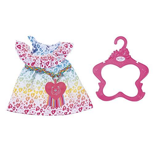 Zapf Creation BABY Born Puppenkleider - Modedesigner Kleidung - Regenbogen Leokleid