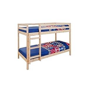 Comfy Living 3ft Single Wooden Pine Bunk Bed Zara