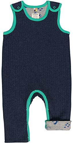 loud + proud Baby-Unisex Wendestrampler Strick Aus Bio Baumwolle, GOTS Zertifiziert Strampler, Blau (Midnight Mi), 80 (Herstellergröße: 74/80)