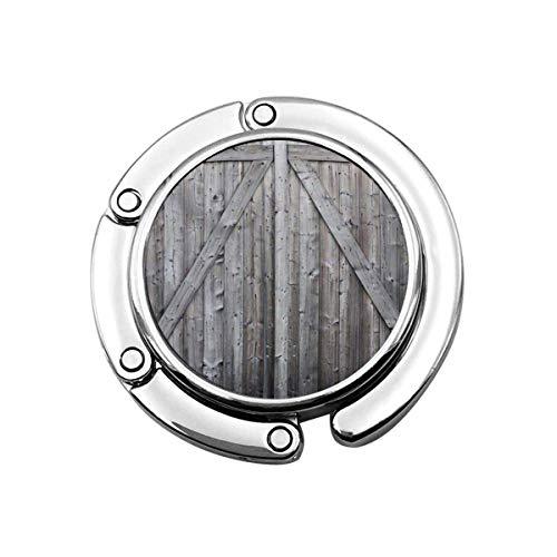 Perchero Monedero Plegable Lindo Gancho Monedero Paneles de Madera de la Granja Puerta de Granero de Madera rústica Gris Tablón de Madera