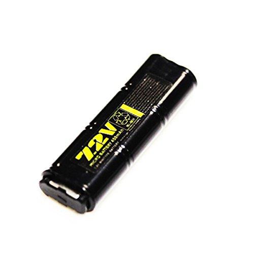 WELL 7,2V 450mAh Ni-MH Rechargerable Batterie für Airsoft AEG Vz61 / MP7 / MAC10 / R2 / R4
