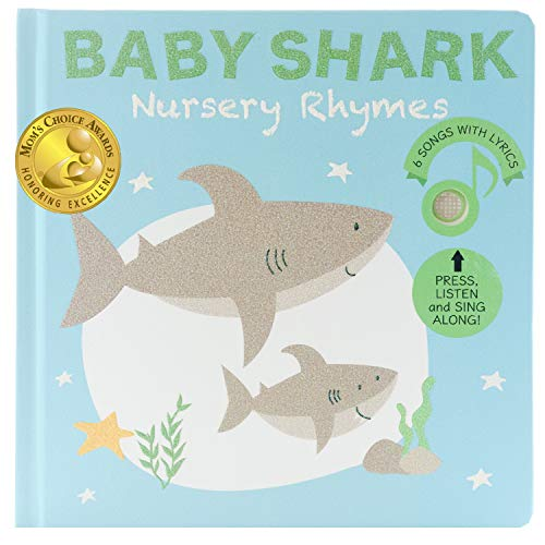 Cali's Books Baby Shark and Other Animals Nursery Rhymes Sound Book for Toddlers 1-3. Listen, Clap and Sing Along! Best Interactive and Educational Toy for Babies and Toddlers.