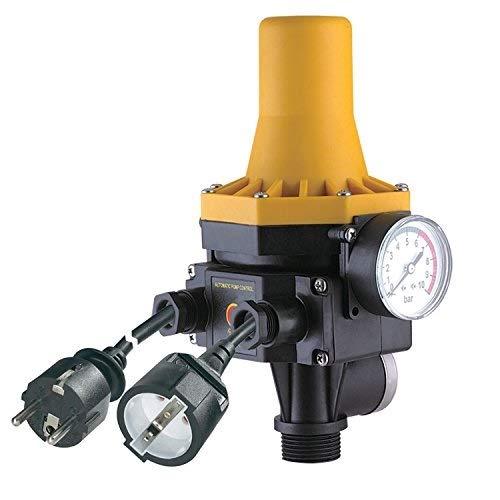 PUMPENSTEUERUNG DRUCKSCHALTER Druckwächter Automatic-Controller Durchflusswächter AC3 verkabelt für Hauswasserwerk Pumpe Brunnenpumpe Kreiselpumpe Tauchpumpe Tiefbrunnenpumpe (Durchflusswächter 3-2 verkabelt)
