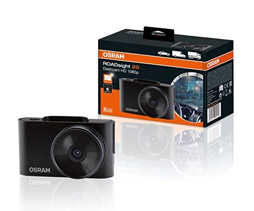OSRAM ORSDC20 ROADsight 20, cámara Frontal para Coche, dashcam, Full HD 1080p, 30 fps, Pantalla de 2 Pulgadas, Gran Angular de 120 °, Sensor G, Modo de estacionamiento