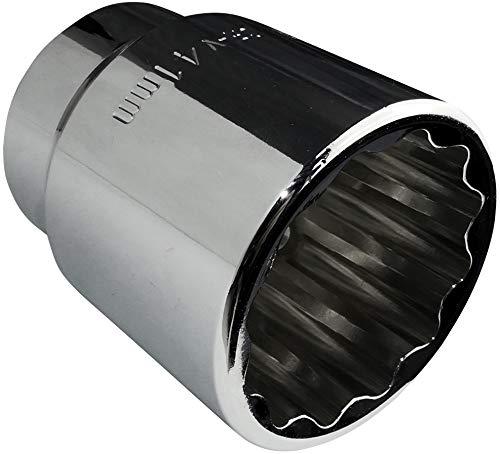 AERZETIX - Llave de vaso/Punta - Corta - 3/4x41mm - para atornillar/trinquete manual/neumático - Cuerpo cilíndrico - 12 lados/bi-Hexagonal - en acero CR-V - C45068