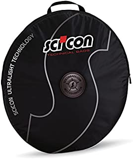 "SCICON Double Wheel Bag - Heavy Duty Nylon - For 26"", 650b, 650c and 700c wheels - Cordura Black"