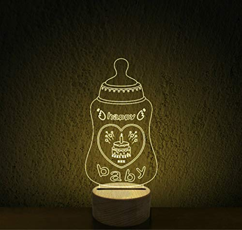3D Driedimensionale Oogbescherming Nachtlampje Led Slaapkamer Nachtkastje Lamp Sfeerlicht Nachtlampje Baby Naam Merk