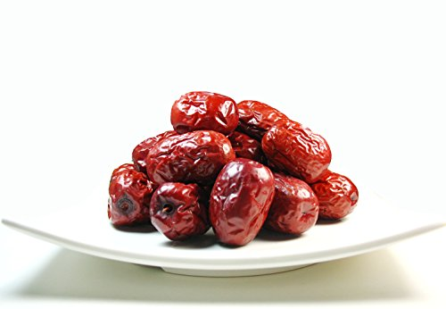 Greenhilltea health fruit Xinjiang Red Dates natural Jujube dried fruit 1 LB