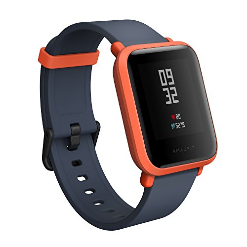 Amazfit BIP smartwatch by Huami with All-Day Heart Rate & Activity Tracking, Sleep Monitoring, GPS, 30-Day Battery Life, Bluetooth (Cinnabar Red), One Size