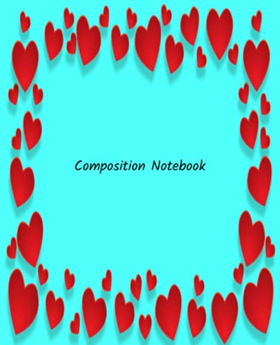Composition Notebook: The best composition notebook college ruled with color Bleu cover for kids and girls