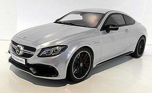 Mercedes AMG C63 S Coupe, silber, 0, Modellauto, Fertigmodell, GT Spirit 1 18