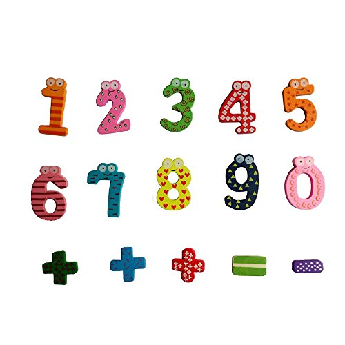 Hisoul Educational Wooden Toys Kids Cute Interesting Animal Frog Magnetic Numbers Math Cartoon Fridge Magnet Toy - Best Educational Gifts for Boys and Girls (Multicolor)