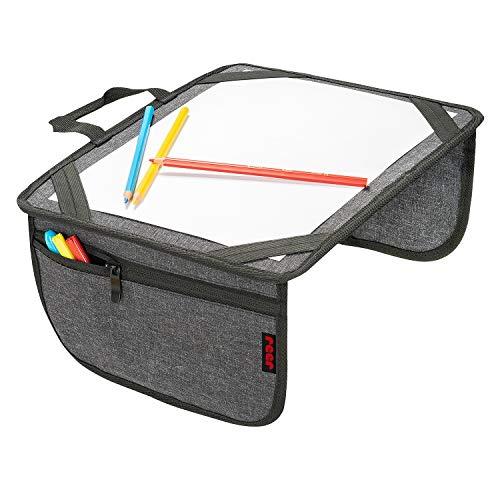reer Malunterlage für unterwegs TravelKid Play, leicht und stabil, praktische Taschen, wasserabweisend, schmutzabweisend, grau