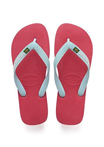 Havaianas Brasil Logo, Unisex-Erwachsene Zehentrenner, Pink (Flamingo), 37/38 EU